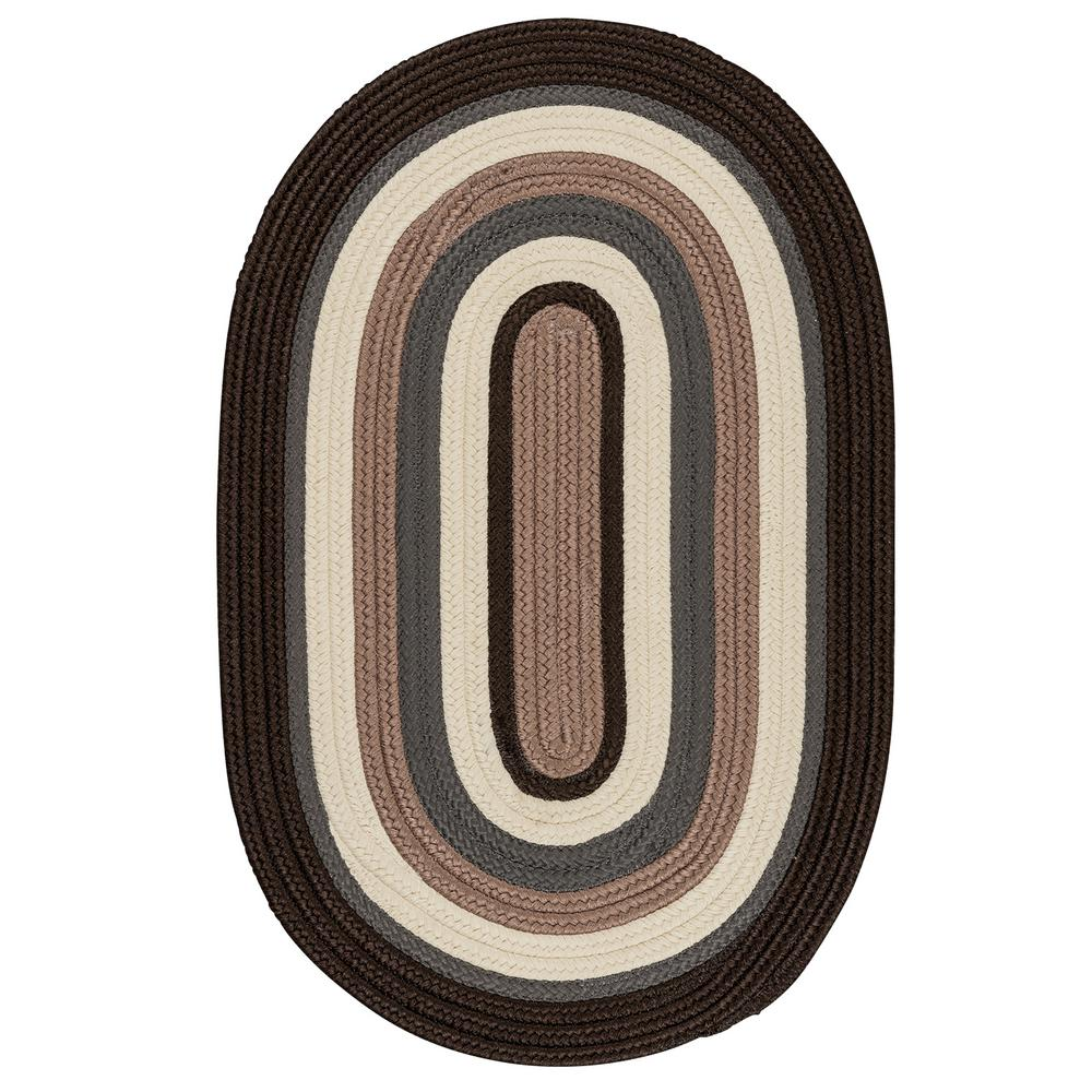 Frontier 4 ft. x 6 ft. Brown Braided Area Rug