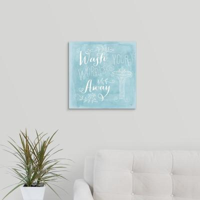 """""""Wash Your Worries Away"""" by Mollie B. Canvas Wall Art"""