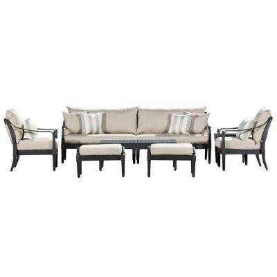 Astoria 8-Piece Patio Seating Set with Slate Grey Cushions