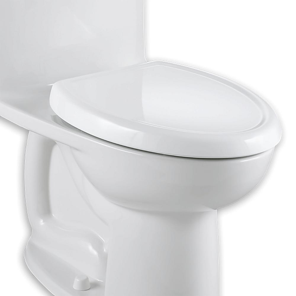 American Standard Cadet 3 Slow-Close Elongated Closed Front Toilet Seat in White