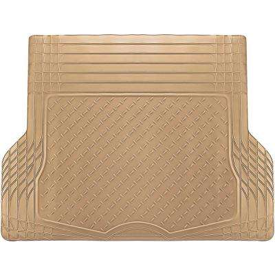 WeatherShield HD Beige Heavy Duty Rubber Trunk Cargo Liner Floor Mat Trim to Fit for Car/SUV/Van/Trucks
