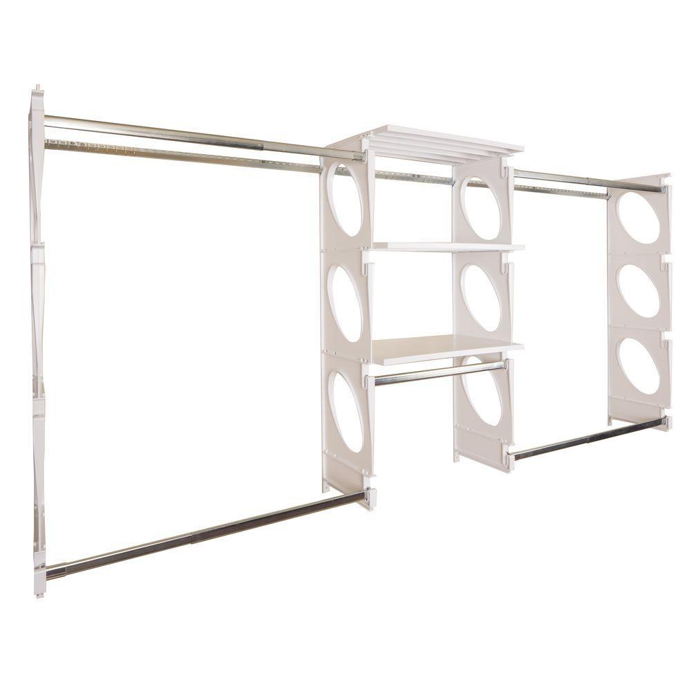 Urban Luxury 6 ft. to 8 ft. White Closet Shelving Kit