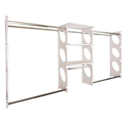 Urban Luxury 6 ft. to 8 ft. White Closet Shelving Kit