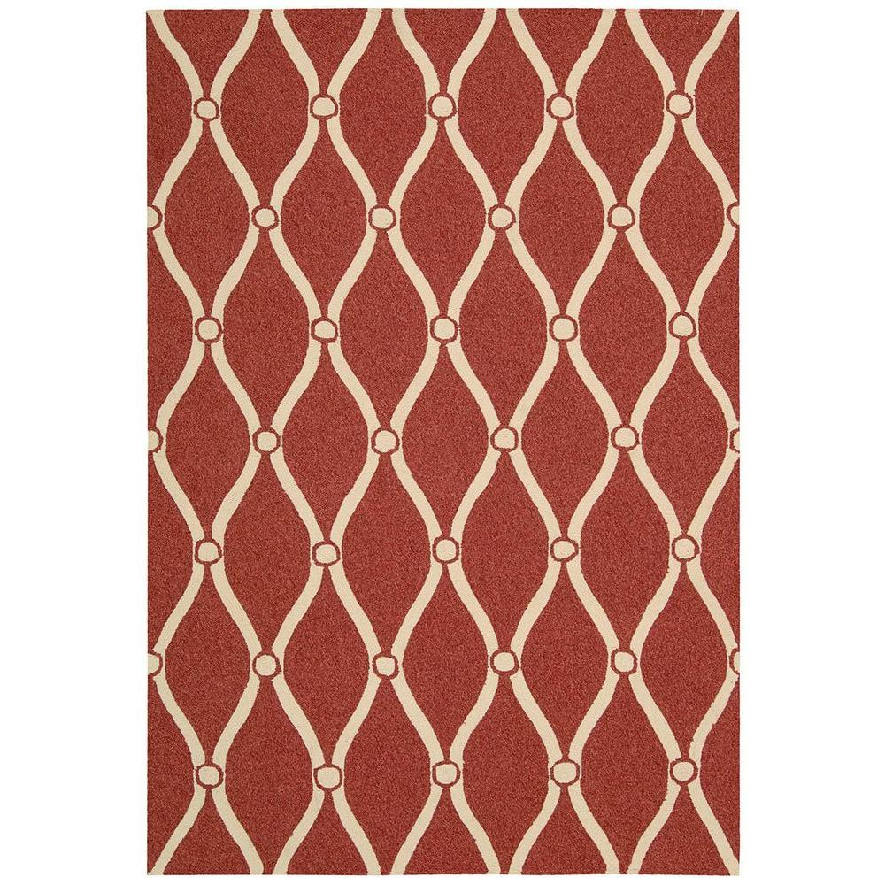 Nourison Portico Red 10 ft. x 13 ft. Indoor/Outdoor Area Rug