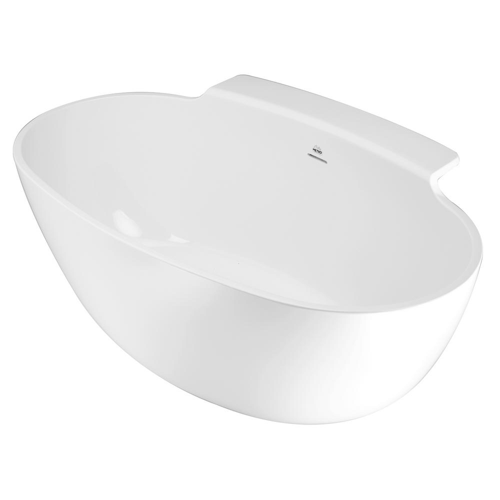 Guthrie 5 ft. Solid Surface Flat Bottom Whirlpool Freestanding Air Bath