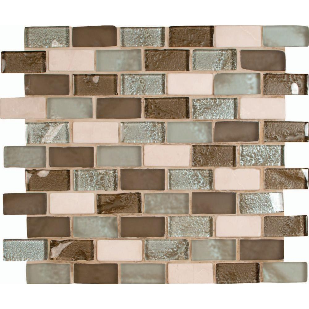 Msi Cosmos Blend 12 In X 8 Mm Gl Stone Mesh Mounted Mosaic Tile Sgls Cb8mm The Home Depot