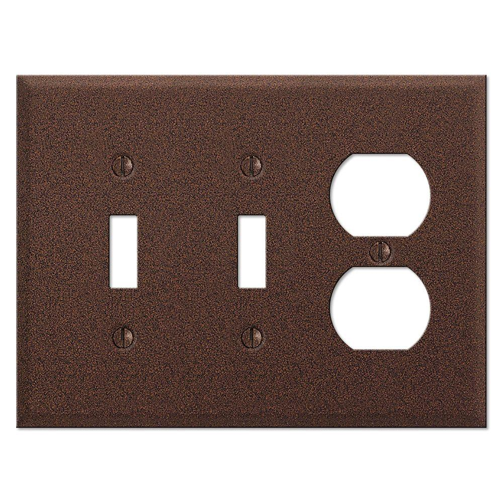 Creative Accents 3 Gang Combination Wall Plate - Rust-DISCONTINUED
