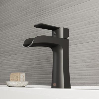 Paloma Single Hole Single-Handle Bathroom Faucet in Matte Black