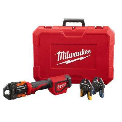 M18 18-Volt Lithium-Ion Cordless Short Throw PEX Press Tool Only with (3) Viega PureFlow Jaws
