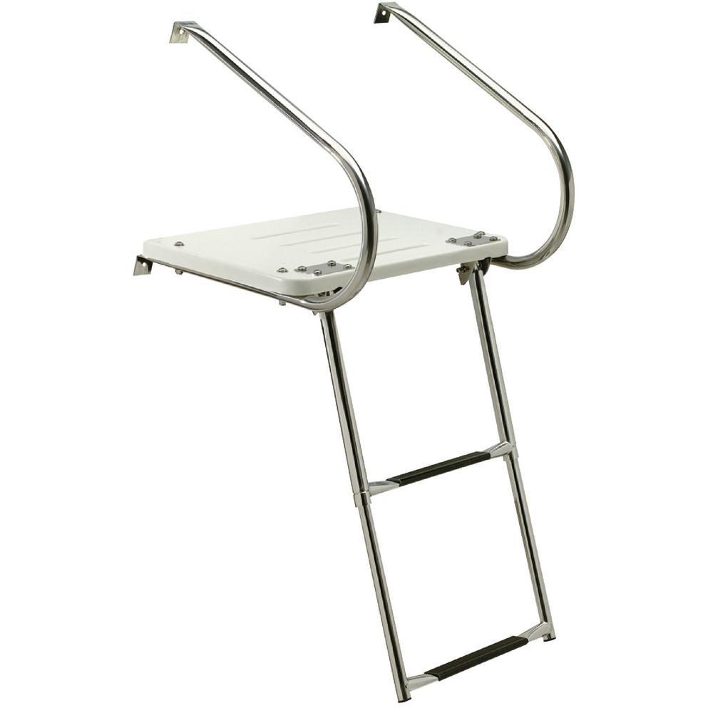 2-Step Universal Swim Platform with Undermount Telescoping Ladder