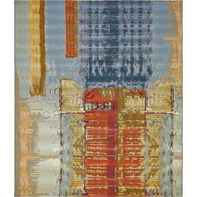 Southwestern Solid Multi Colored Outdoor Rugs Rugs The
