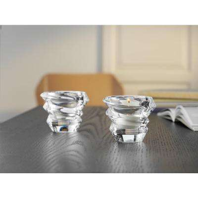 Slice Crystal Decorative Votive Set in Clear (2-Pack)