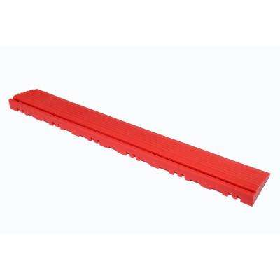 15.75 in. Racing Red Pegged Edging for 15.75 in. Swisstrax Modular Tile Flooring (2-Pack)