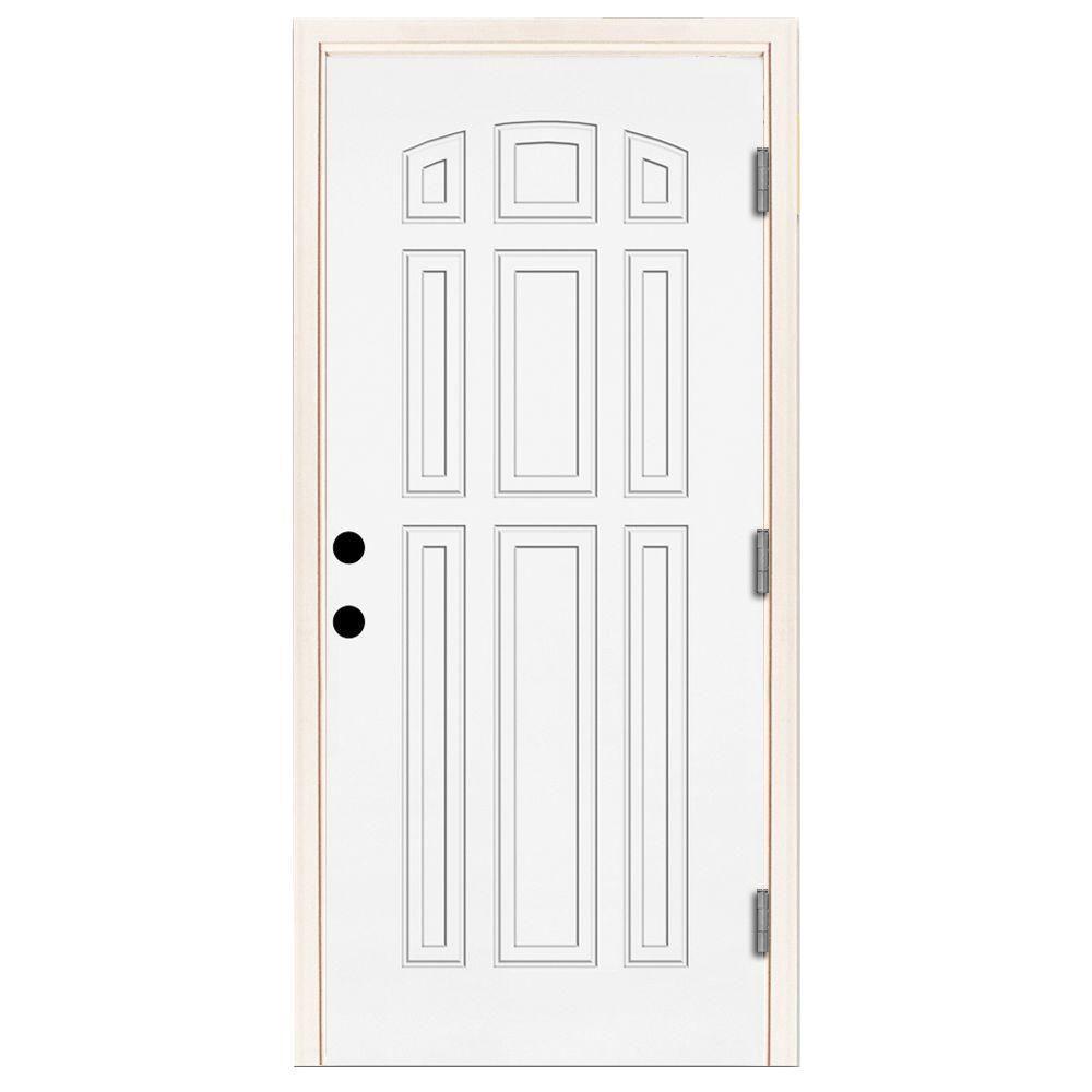 Steves Sons 32 In X 80 In Premium 9 Panel Primed White Steel Prehung Front Door St90 Pr 28