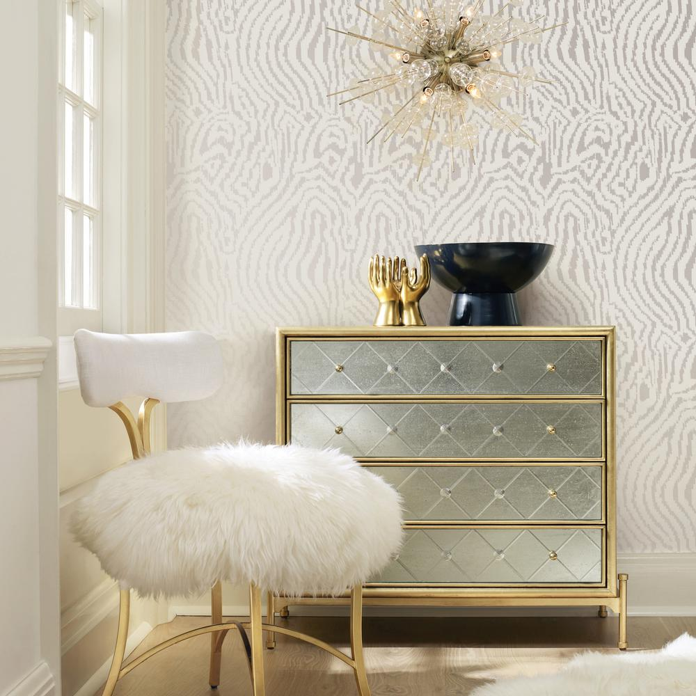Cynthia Rowley Home Decor Collection: Tempaper Cynthia Rowley For Tempaper Zebra Silver Self