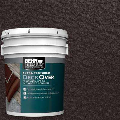 5 gal. #SC-104 Cordovan Brown Extra Textured Solid Color Exterior Wood and Concrete Coating