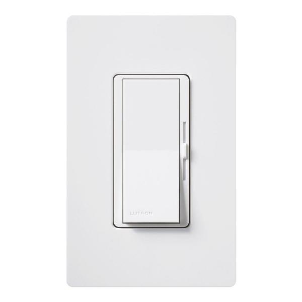 Diva Magnetic Low Voltage Dimmer, 800-Watt, Single-Pole, White