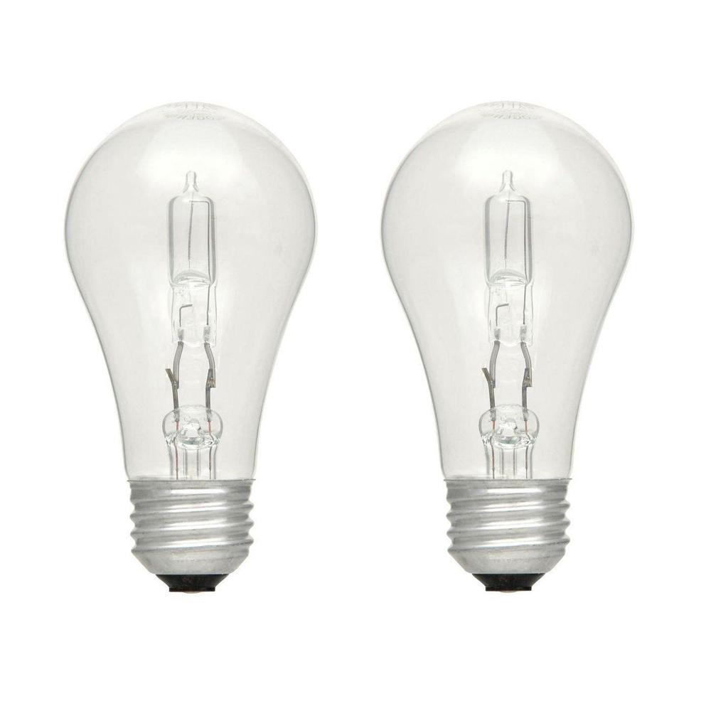 Ecosmart 75 Watt Equivalent A19 Dimmable Eco Incandescent Light Bulb Soft White 4