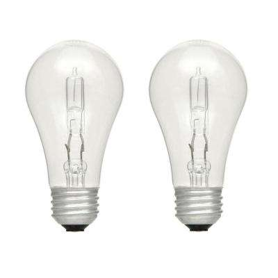 75-Watt Equivalent A19 Dimmable Eco-Incandescent Light Bulb Soft White (2-Pack)