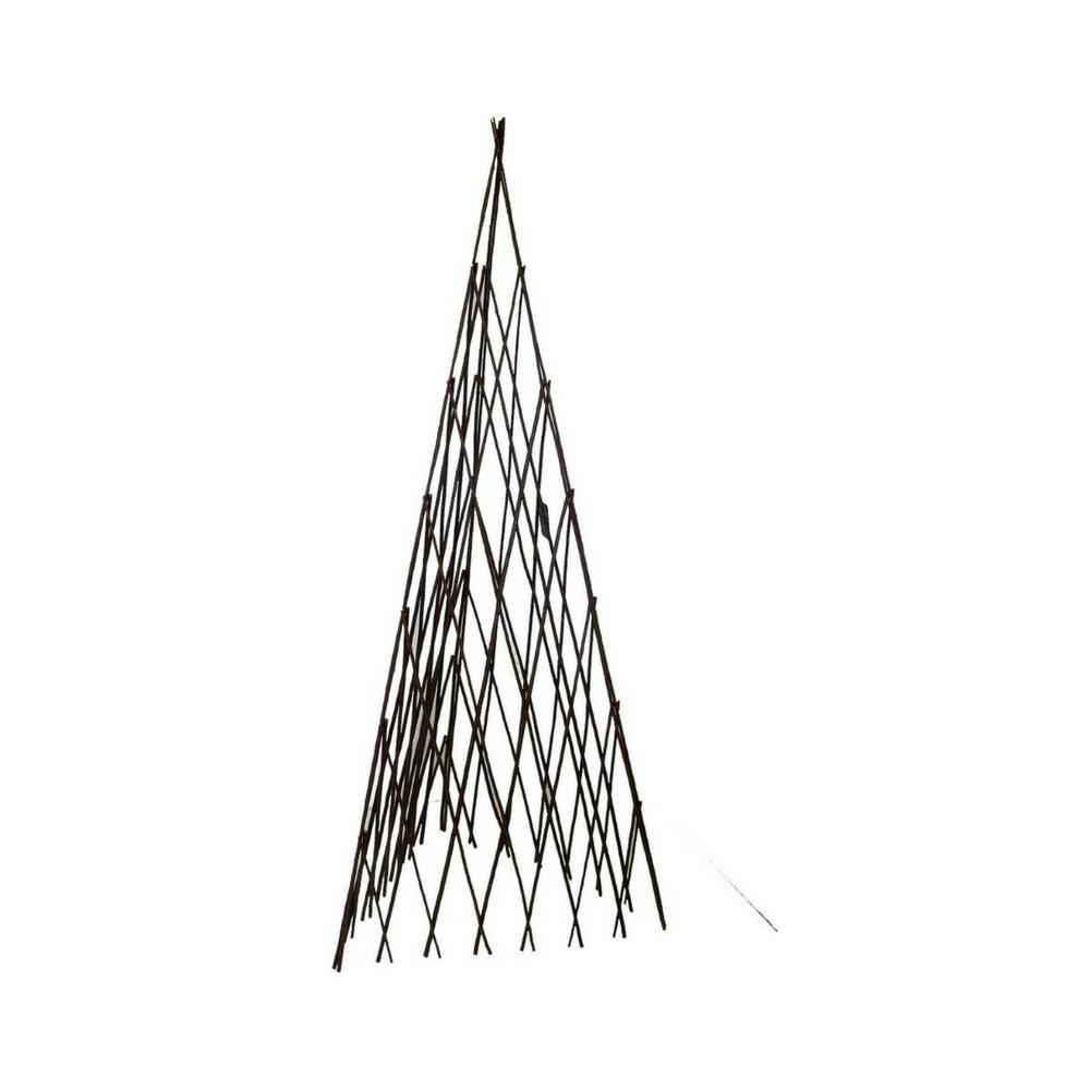 MGP 12 in. W x 48 in. H Master Garden Products Willow Expandable Trellis Teepee