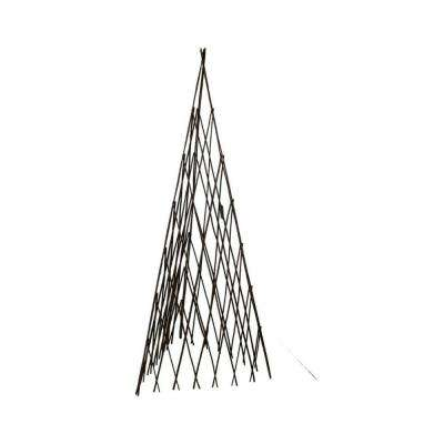 12 in. W x 48 in. H Master Garden Products Willow Expandable Trellis Teepee