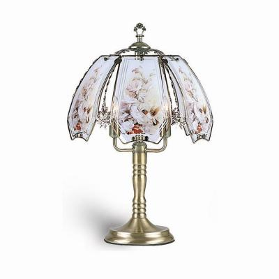 23.5 in. Hummingbird Brushed Gold Touch Lamp