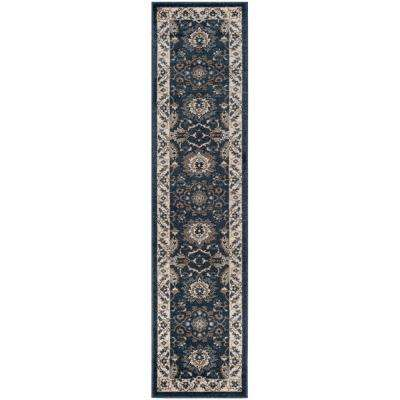 Carolina Dark Blue 2 ft. x 10 ft. Runner Rug
