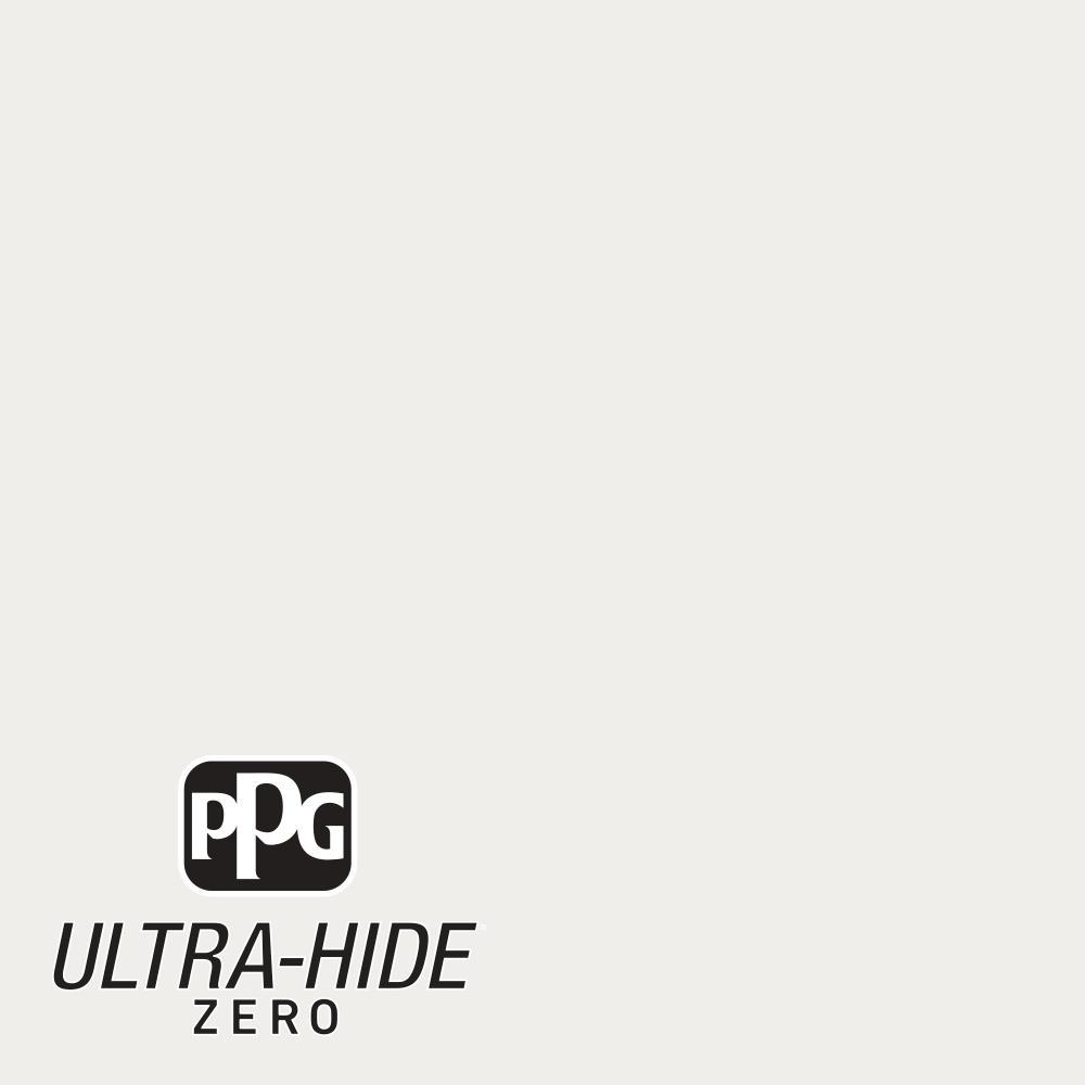 PPG 1 gal. #HDPWN56 Ultra-Hide Zero Swan White Semi-Gloss Interior Paint