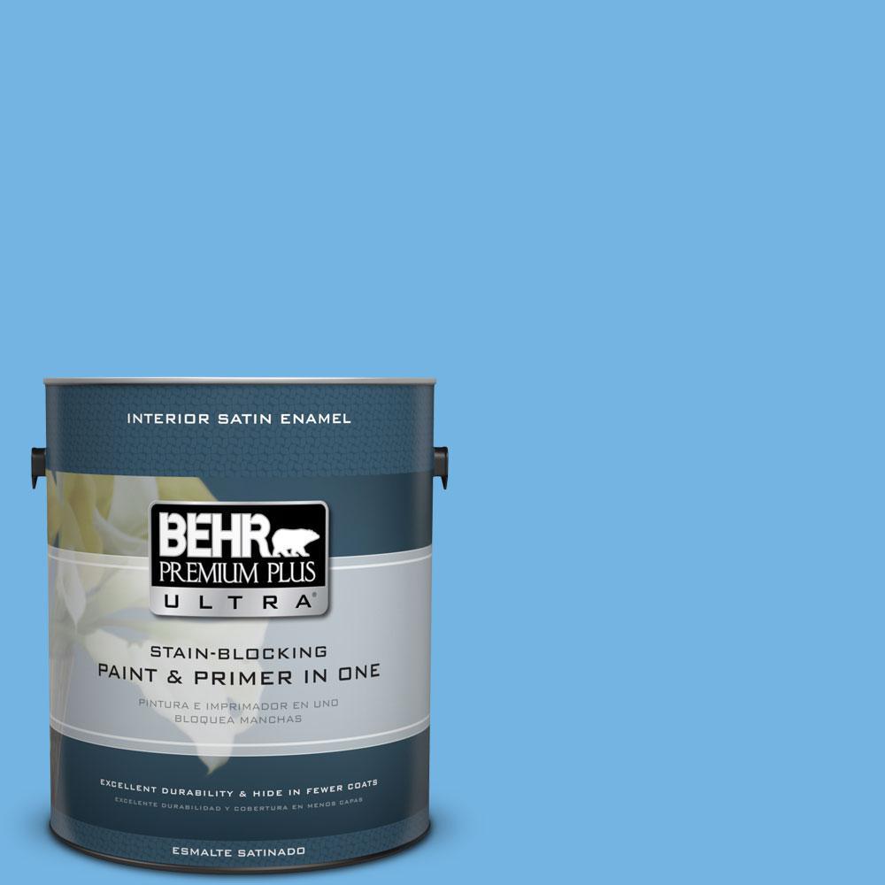 BEHR Premium Plus Ultra 1-gal. #P510-4 Electra Satin Enamel Interior Paint