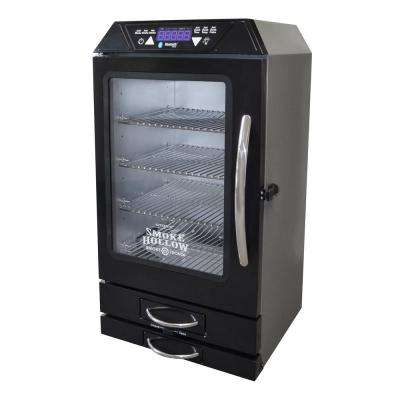 Smoke-Tronix 40 in. Electric Smoker with Bluetooth, in Black