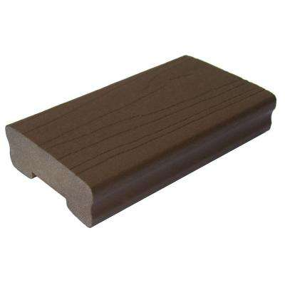 ArmorGuard 1-1/4 in. x 3-1/2 in. x 1/2 ft. Brazilian Walnut Capped Composite Deck Railing Sample