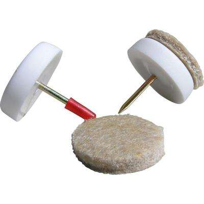 1-1/8 in. Nail-On Furniture Glides with Felt Pads (8 per Pack)