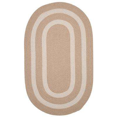 Paige Natural 4 ft. x 6 ft. Braided Oval Area Rug