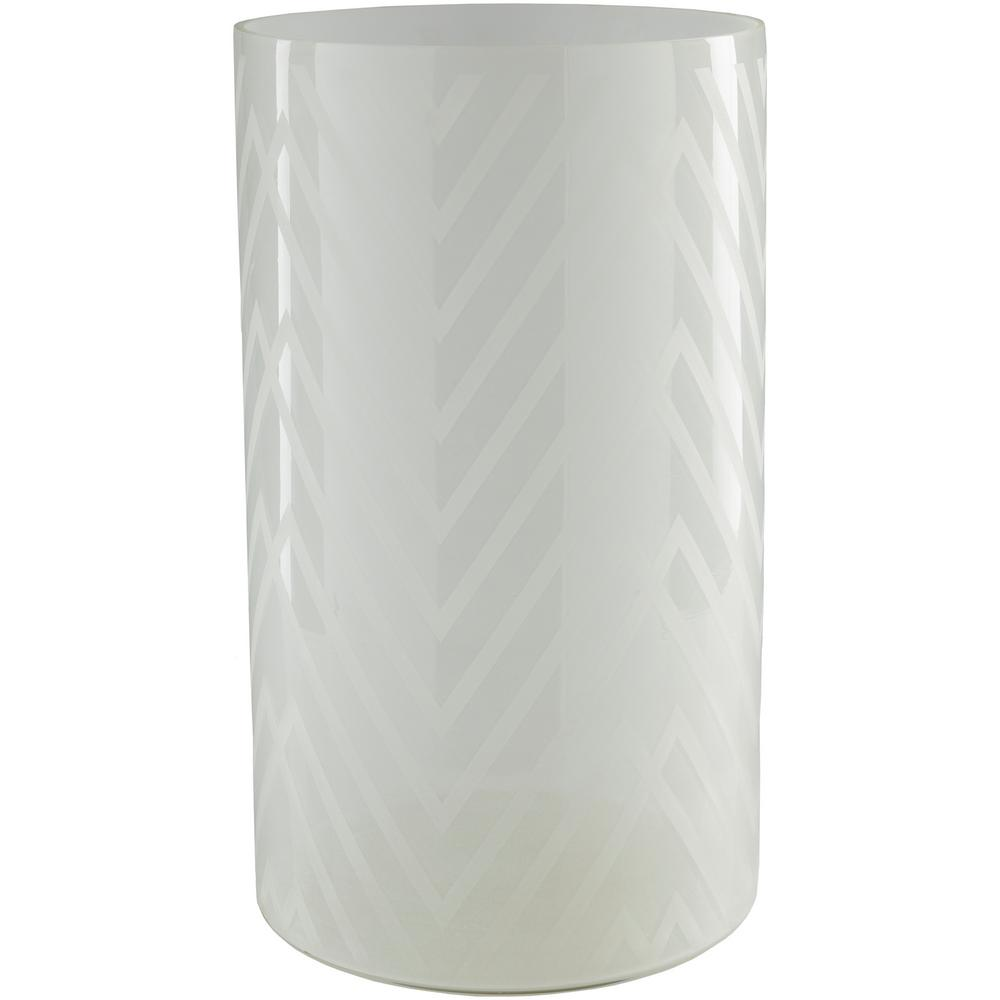 Ooldo 17.5 in. Gray Glass Candle Holder