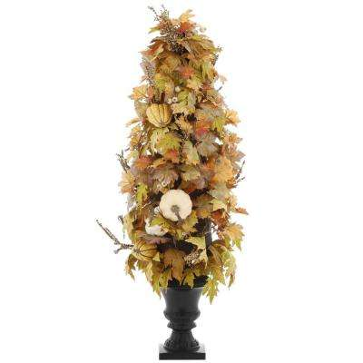 48 in. Artificial Maple Leaves Porch Tree