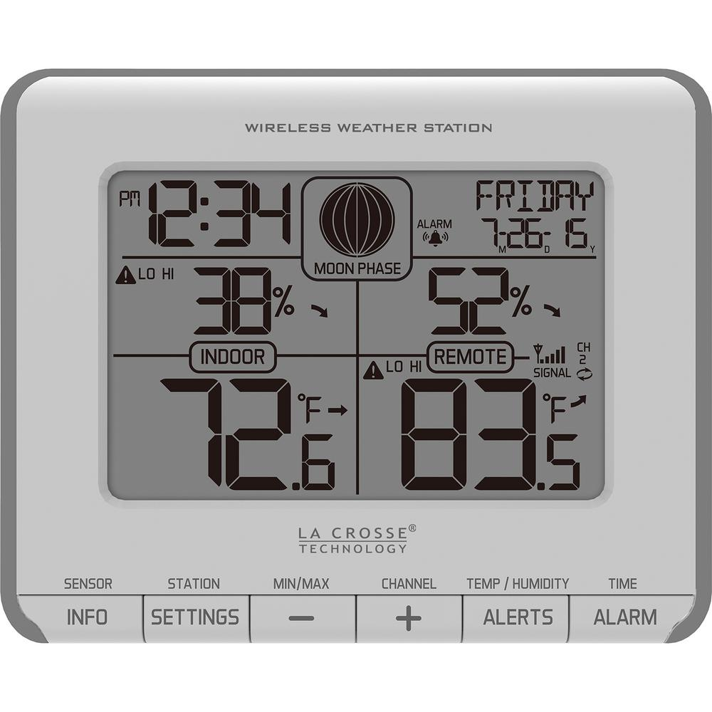 la crosse technology wireless weather station with temperature
