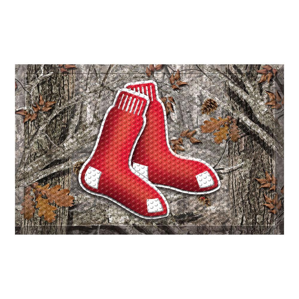 MLB - Boston Red Sox 19 in. x 30 in. Outdoor Camo Scraper Mat Door Mat