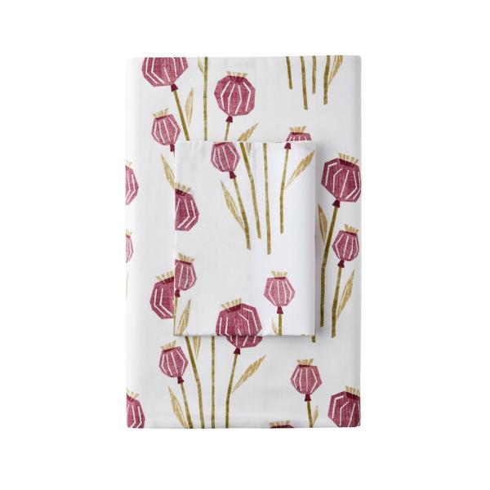 The Company Store Lantern Floral Multi 200-Thread Count Cotton Percale Twin