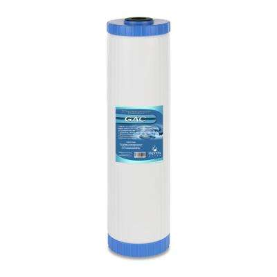 Granular Activated Carbon Replacement Filter GAC Water Filter Whole House Filtration 5 Micron 4.5 x 20