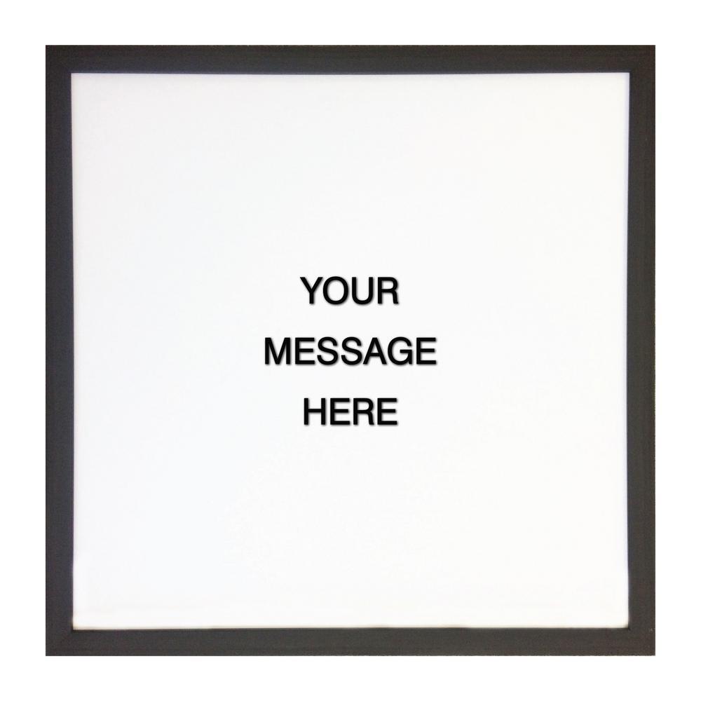 Letterlove w/150 Black Magnetic Letters, EBONY FRAME, Magnetic Memo Board