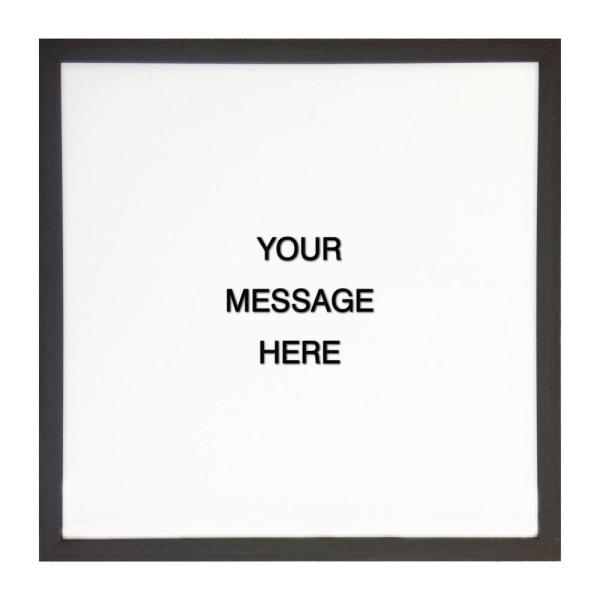 cbe37eff0b77a Letterlove with 150 Black Magnetic Letters, Ebony Frame, Magnetic Memo Board