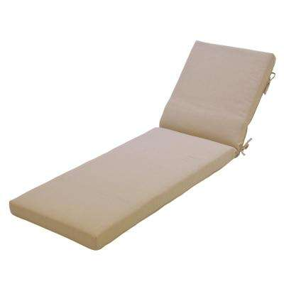 CushionGuard Oatmeal Outdoor Chaise Lounge Cushion
