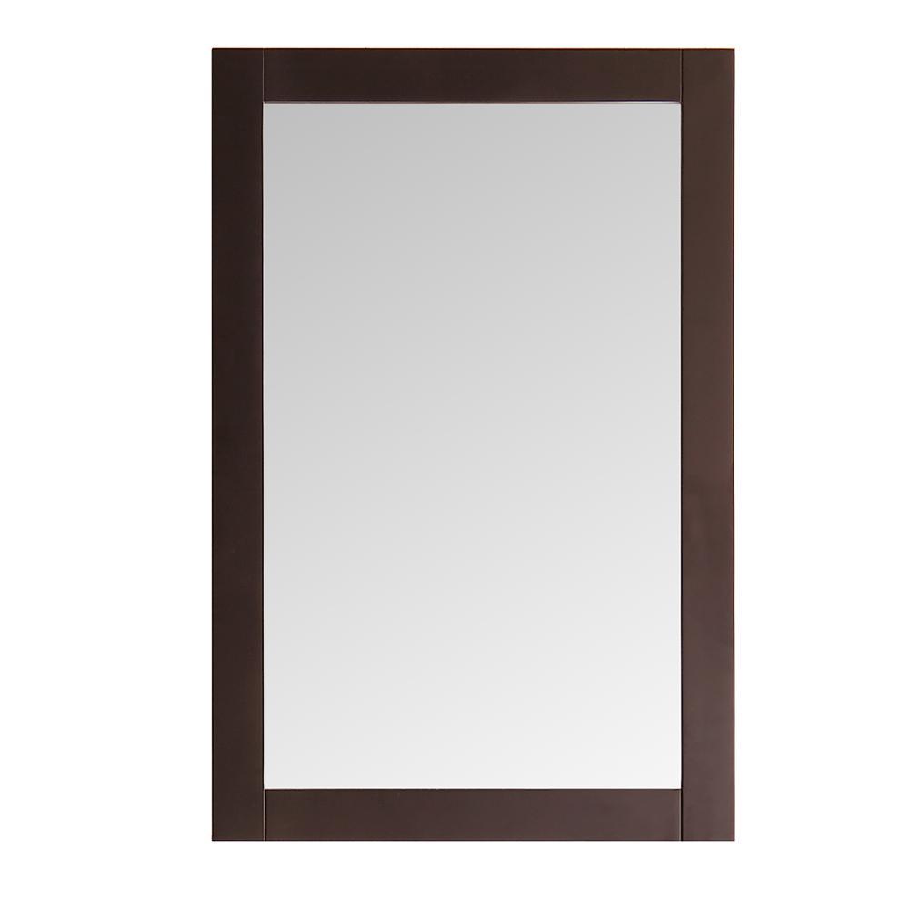 Fresca niagara 20 in w x 30 in h framed wall mirror in for Mirror 20 x 30
