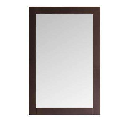 Niagara 20 in. W x 30 in. H Framed Wall Mirror in Antique Coffee Finish