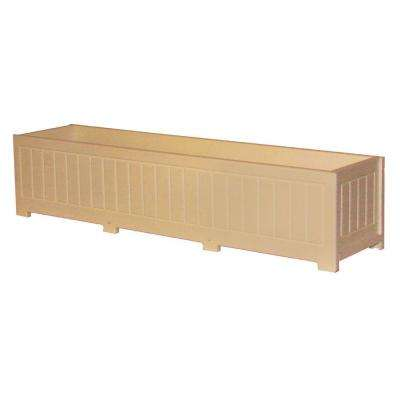 Catalina 48 in. x 12 in. Cedar Recycled Plastic Commercial Grade Planter Box