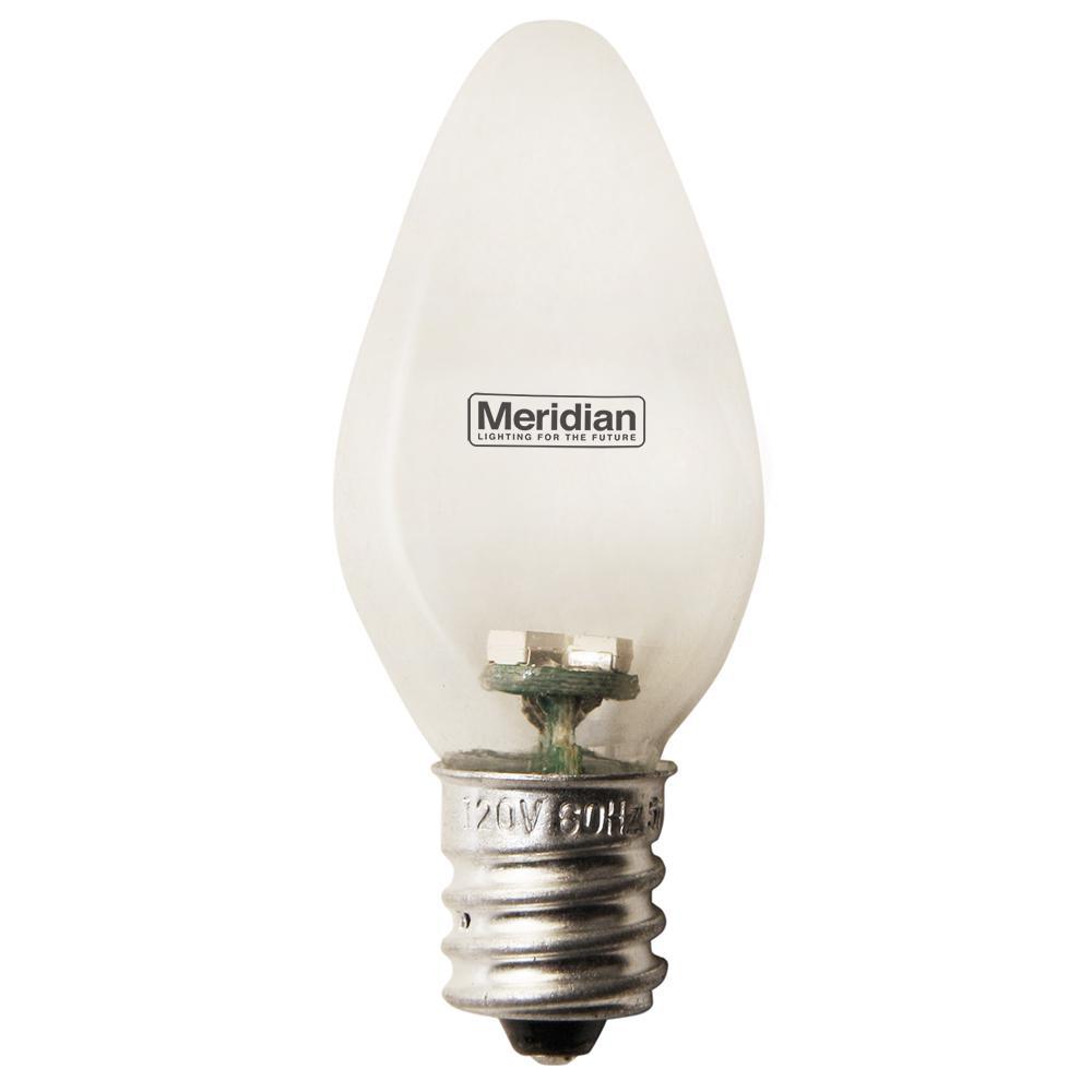 Meridian 4 Watt Equivalent Green C7 Led Light Bulb 2 Pack 13141g The Home Depot