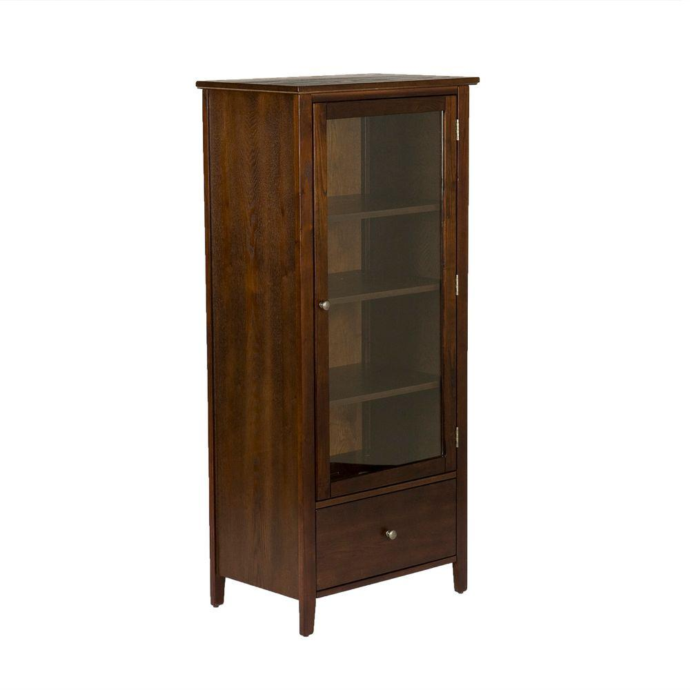 Fairmont 500-Disc Capacity Media Storage Tower in Espresso