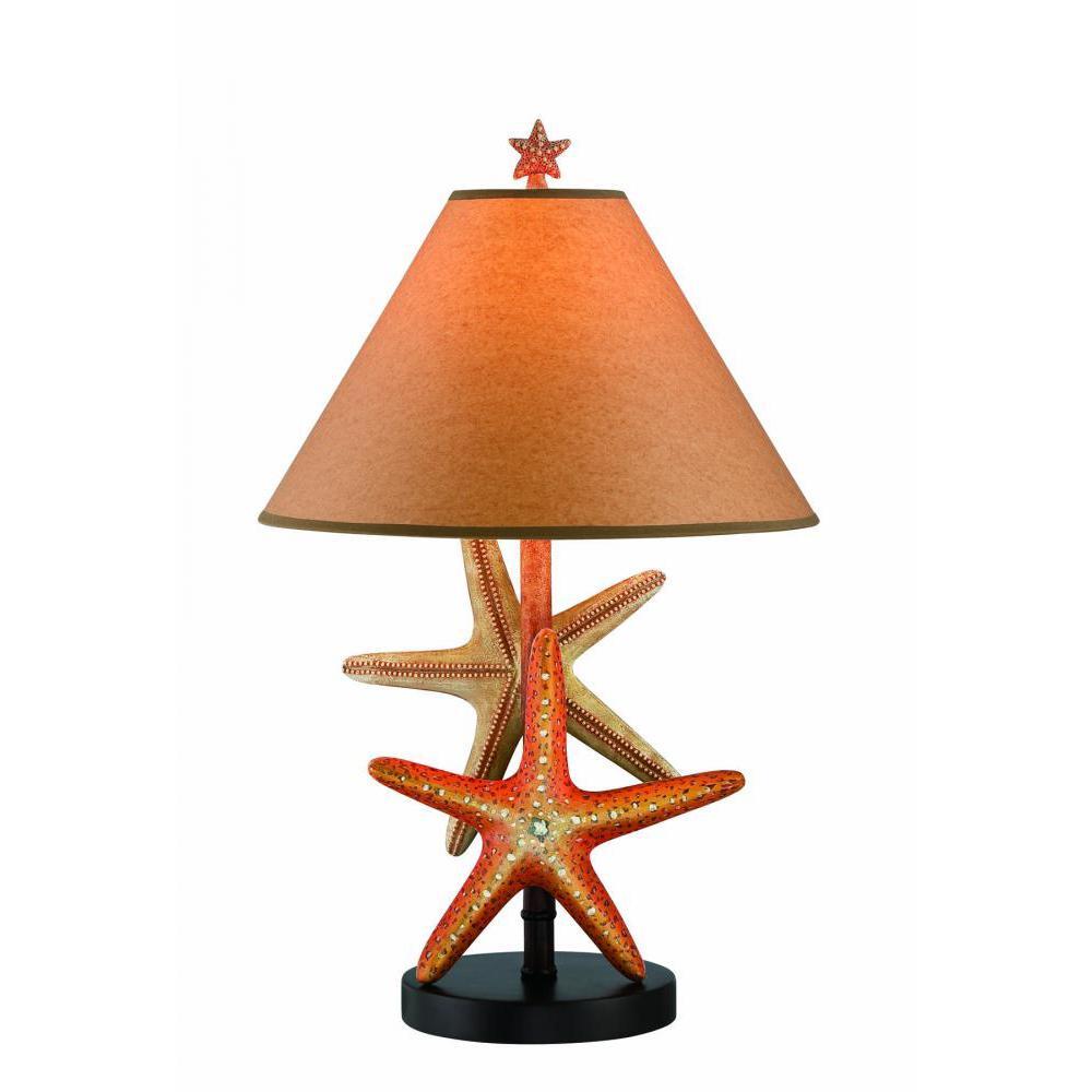 25.5 in. Dark Brown Table Lamp