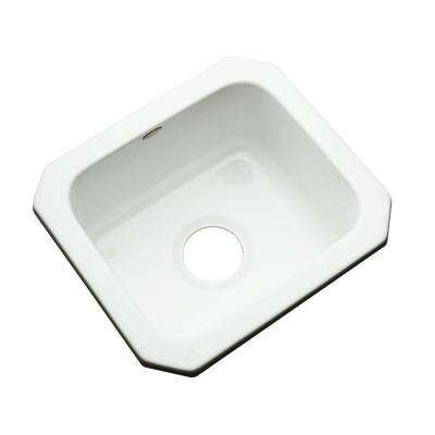 Manchester Undermount Acrylic 16 in. 0-Hole Single Basin Entertainment Sink in White