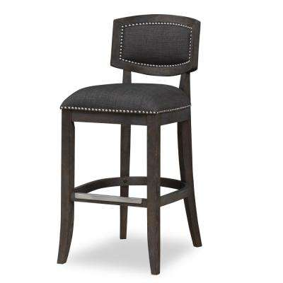 Darcy 30 in. Drift Brown Stationary Bar Stool